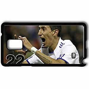Personalized Samsung Note 4 Cell phone Case/Cover Skin Angel di maria profile real madrid fc Black