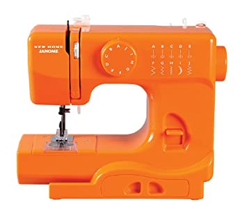 MAQUINA de COSER PORTATIL JANOME color Orange Blaze