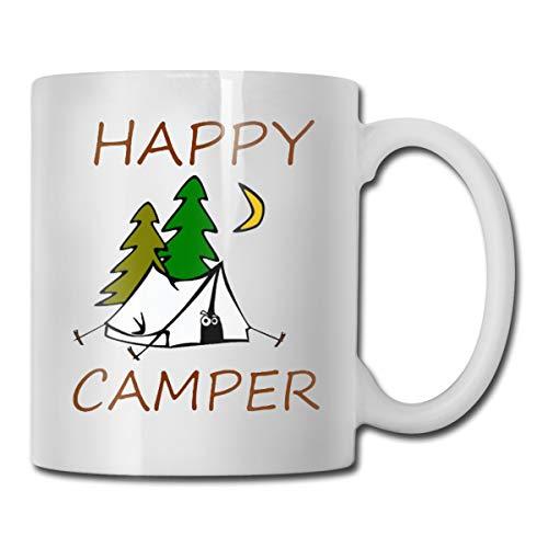 FOOOKLHappy Camper 11oz Tea Cup Coffee Mug