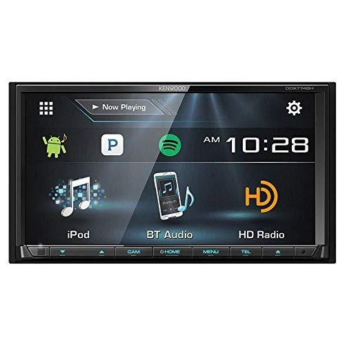 0.5' Deck - Kenwood DDX774 / DDX774BH DDX774 2 Din Receiver w/ Bluetooth and HD Radio