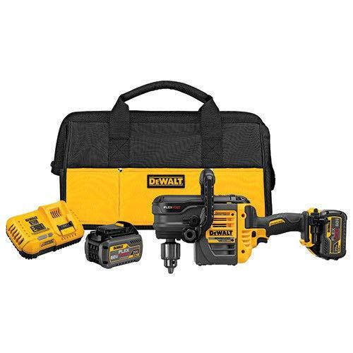 DEWALT DCD460T2 60V MAX 2 Battery FLEXVOLT Stud Joist Drill Kit, 1/2 inch