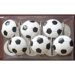 Soccer Shower Curtain Hooks