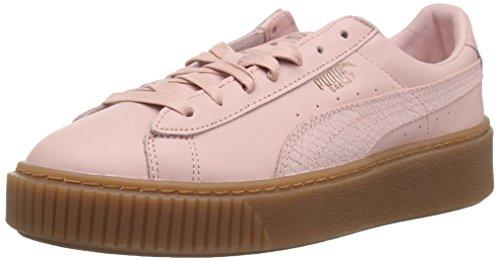 (PUMA Women's Basket Platform Sneaker, Silver Pink-Rose Gold, 9.5 M US)