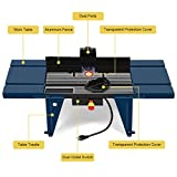 Goplus Electric Aluminum Router Table Wood