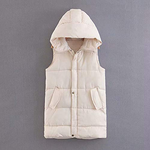 Giacca Bianca fashion Da Womens Vest Hooded Outdoor Pocket Moda Alla Down Coat Jacket Donna rrRxwO41