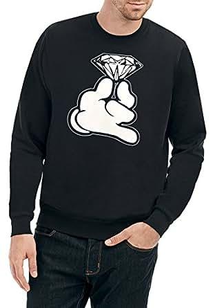 Certified Freak Dope Hands Diamond Sweater Negro: Amazon.es: Ropa y accesorios