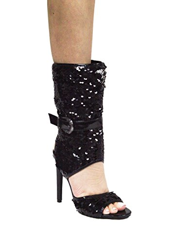 CAPE Sequence Ankle 75 Women High Suzzy Open Heel Black Toe ROBBIN rx6wqYr