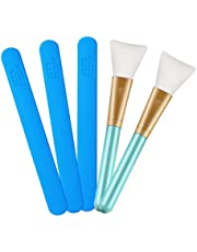 LET'S RESIN Silicone Stir Sticks with 2PCS Silicone Brushes for Mixing Resin, Epoxy, Liquid, Paint, Making Glitter Tumblers