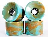 76mm 78a Gel Soft Longboard Wheels (Blank Blended Orange&Blue)