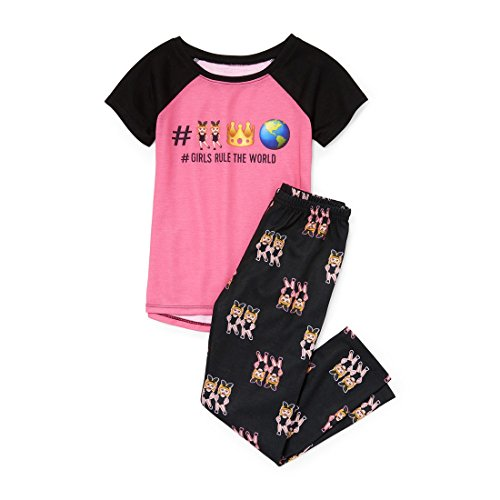 The Children's Place Big Girls' Top and Pants Pajama Set, Pink Blast, XXL(16) ()