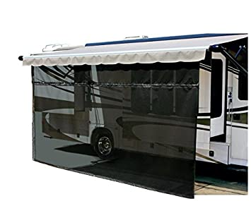 amazon com carefree 701509 black 15 x 9 drop rv awning ez
