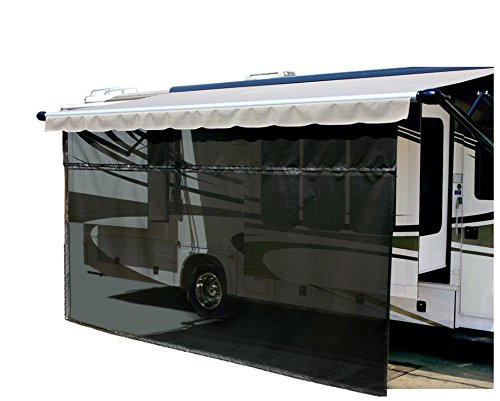 Carefree 701508 Black 15' x 8' Drop RV Awning EZ ZipBlocker by Carefree