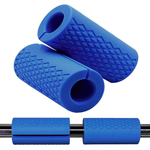 Greententljs Dumbbell Bar Handle Grips - Standard Bar Grips for Weight Lifting Fitness Strength Training - Arm Chest Workout Machines Grip (Blue, 1