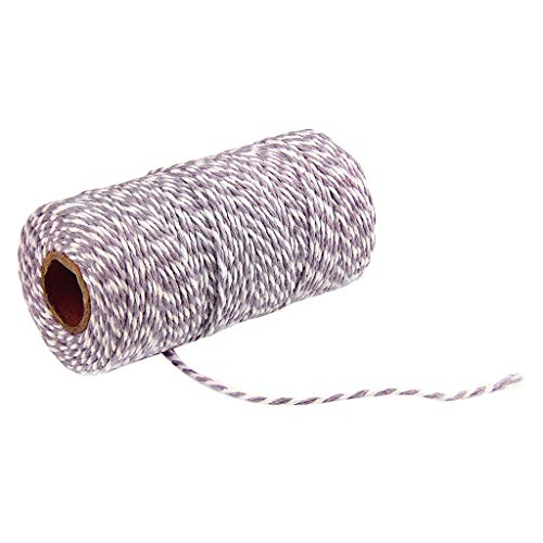 Yu2d  Two Colors Cotton Bakers Twine Rope Rustic Country Crafts Handmade Accessories(Multicolor)]()