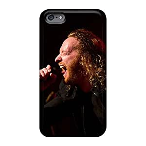 Shock Absorbent Hard Phone Case For Iphone 6 With Support Your Personal Customized Beautiful Dark Tranquility Band Skin ErleneRobinson