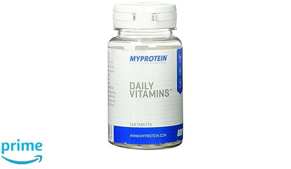 MyProtein Daily Vitamins Fórmula Multivitamínica - 180 Tabletas: Amazon.es: Salud y cuidado personal
