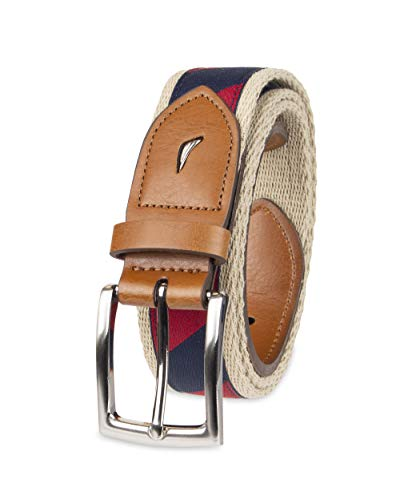 Casual Nautica Belt - Nautica Men's Casual Belt, Red/Navy, 38