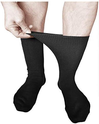 Buenos para Circulaci/ón 3 PARES vitsocks Calcetines Extra Anchos No Aprieten Hombre