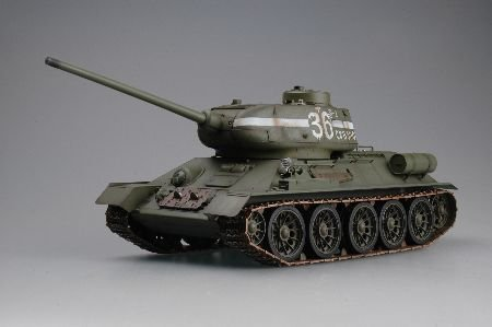 dio Remote Control Russian T-34/85 RC Infrared Battle Tank With Infrared Battle System and Sound R/C Tank ()