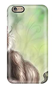 Iphone 6 Case Slim [ultra Fit] Furry Creature And A Bird Protective Case Cover