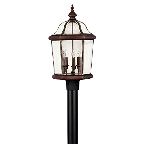 - Hinkley 2451CB Traditional Three Light Post Top/ Pier Mount from Augusta collection in Copperfinish,