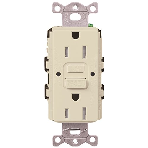 Lutron  SCR-20-GFST-ES  20-Amp  Tamper Resistant Self-Testing Receptacle, Eggshell -  Lutron Electronics Company, Inc.