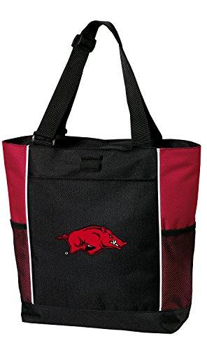 University of Arkansas Tote Bags Red Arkansas Razorbacks Totes Beach Travel ()