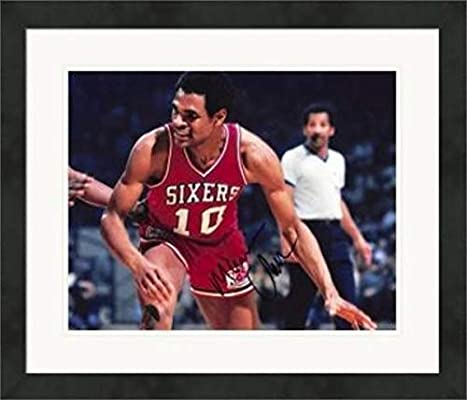 f3a94dfc9009 Autographed Maurice Cheeks Photo - 8x10 1983 Champion Mo)  3 Matted    Framed - Autographed NBA Photos