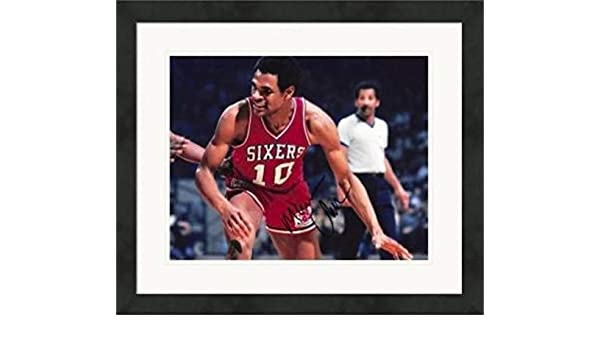 e2a3faffbf75 Autographed Maurice Cheeks Photo - 8x10 1983 Champion Mo)  3 Matted   Framed  - Autographed NBA Photos at Amazon s Sports Collectibles Store