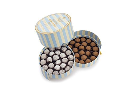 Charbonnel et Walker - Milk & Dark Sea Salt Caramel Truffles, Elegant Layered Box (1.125lbs)
