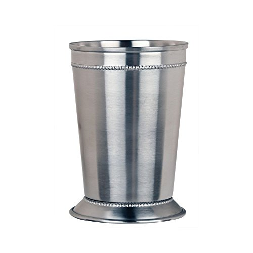 World Tableware JC-25 Beaded Julep Cup, 15 oz. (Pack of 12) (Stainless Cup Julep Steel)