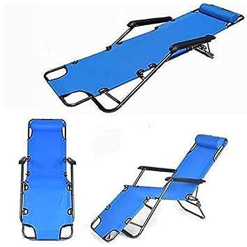 Tenozek Folding Beach Lounge Chair, Portable Outdoor Zero Gravity Chair Camping Reclining Chairs Patio Pool Beach Chaise Lawn Recliner 1 Piece, Blue