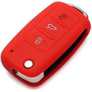 Sale Off AndyGo Protective Silicone Key Cover Keyless Entry Remote Fob Shell Fit For VW Volkswagen 3 Button