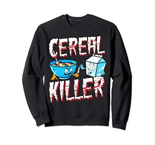 Funny Halloween Costume Sweatshirt Cereal Killer -