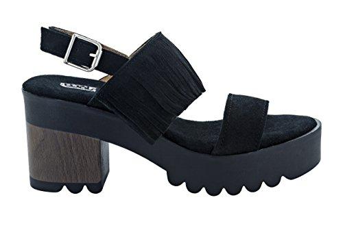 Sandalia WOLS Mujer 188-Z021F Negro