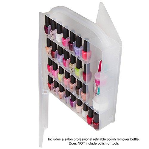 Amazon.com: Professional Nail Polish storage organizer holder case ...