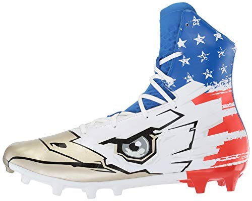 Pictures of Under Armour Men's Highlight MC - Limited Edition Football Shoe, Black (001)/White, 9 5