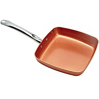 Amazon Com Copper Chef Square Fry Pan With Lid 9 5 Inch