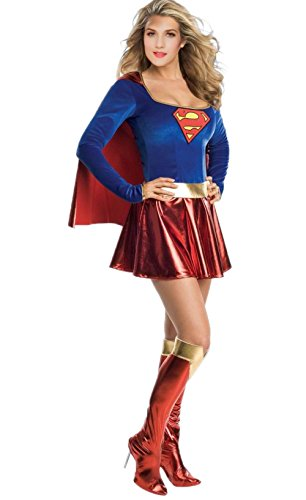 Supergirl One Piece Adult Women's Costume (S) (Supergirl Sexy Costume)