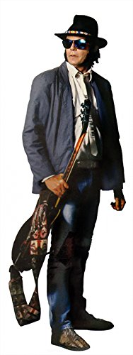 (Hollywoodprop Neil Young LES Paul Guitar Harvest Heart of Gold CINAMMON Girl Rockin' in The Free World LIFESIZE Cardboard Standup Standee Cutout Poster )