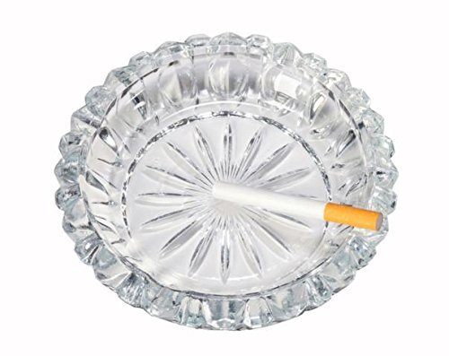 Epure 6 inch Round Decorative Glass Ashtray, Candy Dish, Coin Dish, Shallow bowl, (1)