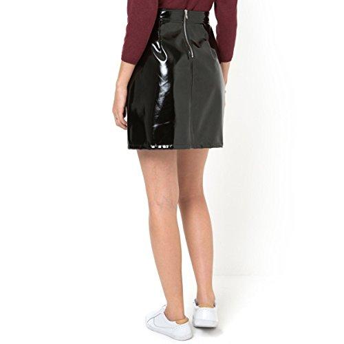 La Redoute Womens Vinyl A-Line Skirt Black Size Us 10