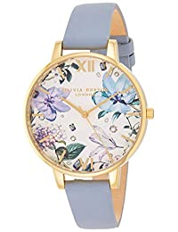 Olivia Burton OB16BF21 - Reloj analógico de cuarzo para mujer con correa de piel