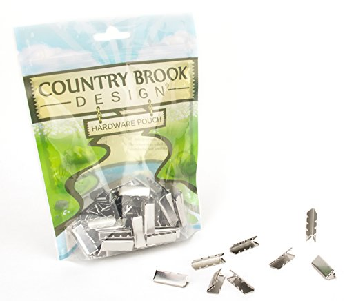 Country Brook Design - Aluminum Belt Tip (1 Inch, 50 Pack)