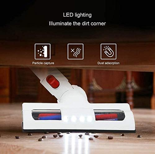 Léger sans fil Aspirateur, haute efficacité puissants phares à LED numérique moteur, bâton pratique et portable Vac, Essential, Blanc aspirateur balai