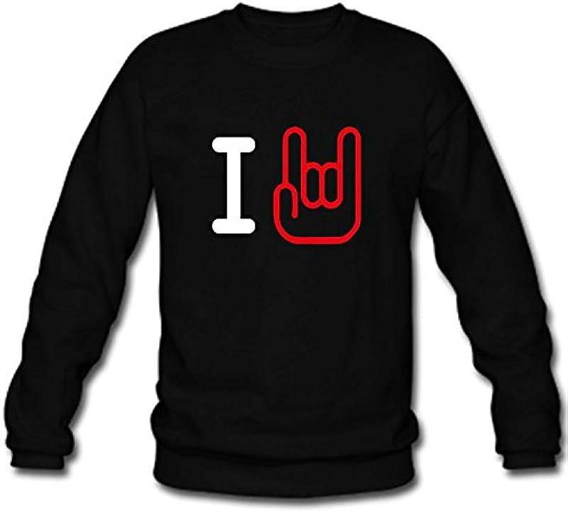 Męska bluza bluza I Rock Horns Rock n' Roll Music Muzyka Fan S-3XL: Odzież