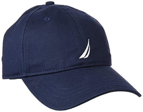 Nautica Men's Twill 6-Panel Cap, Navy, One Size