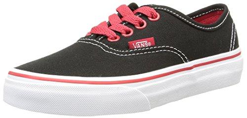 Vans Enfants Authentiques Chaussures De Toile Blanc / Rouge