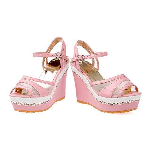 Altura Adee Plataforma poliuretano y tacones de para sandalias damas rosa gatito 4UtUq