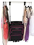 The Dance Angel Suitcase Hot Pink and Black'The Classic' Carry-On (Rolling Dance Bag With Costume Rack)
